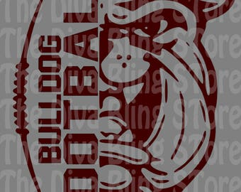 Bulldog Football SVG FIle