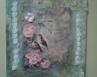 """Mixed Media picture """"Birdies"""""""