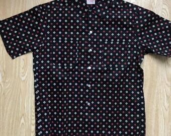 Vintage 1950s Deadstock Black McGregor Cotton Shirt