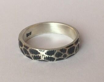 "Srerling silver ring  ""Python"""