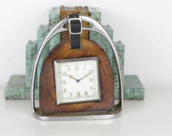 Vintage Horse Stirrup Clock - Smiths