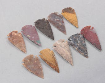 60mm Big Carved Arrow Pendants -- Arrowhead With Electroplated Gold Edge Charms Wholesale Supplies YHA-314