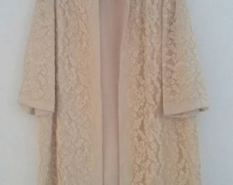 Vintage lace duster coat