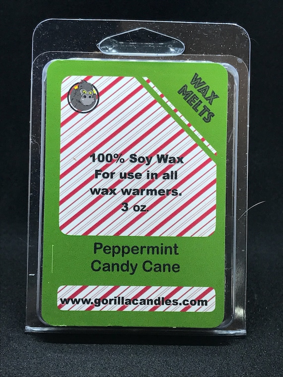 Peppermint Candy Cane Highly Scented Candle Soy Wax Tarts Melts Clamshell Breakaway Cubes