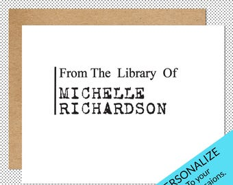 Library Stamp, Book Stamp, Personalized Library Stamp, From The Library Of Stamp, Ex Libris Stamp, Personal Library Stamp, LS8