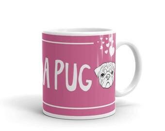 LuvDaPug Mug - Pink