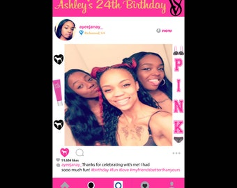 Pink Themed Instagram Photo Frame