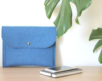 """Felt iPad Sleeve with Flap and Pockets - Felt for 9.7"""" iPad Pro/Air and 10.5"""" iPad Pro and I Pad - Made in Italy  Ask a question"""