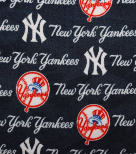 Fleece remnant,New York Yankees fabric remnant,30in x 60in,DIY fabric,fleece fabric,New York Yankees fleece remnant,material remnant