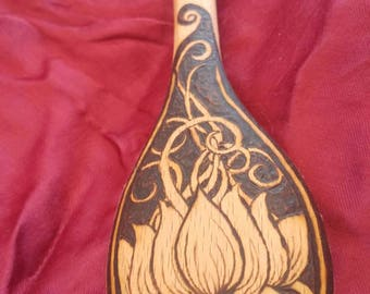 EnshrineDesign Beechwood hand burned cooking spoon