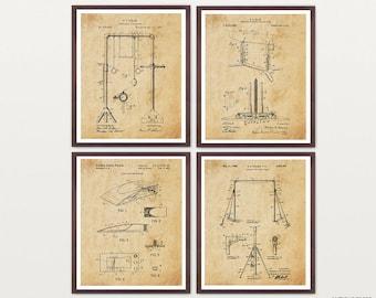 Gymnastics Patent - Gymnastics Poster - Gymnastics Art - Olympics - Gymnast - Gymnast Art - Olympics Art - Dance - Gymnastics Decor