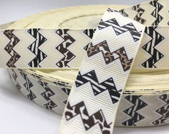 "3 yards 7/8"" Animal Leopard Zebra Chevron grosgrain ribbo"
