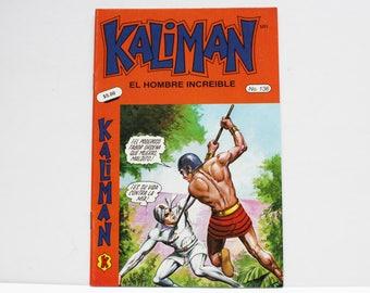 Kaliman El Hombre Increible No 136 El Faraon Sagrado y El Dragon Rojo Revista en Español Comic Book in Spanish RARE