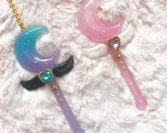 Magical Moon Wand Necklace