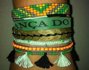 Brazilian Bahia RIO Copacabana Ribbon Cuff Bracelet, friendship