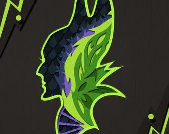 Maleficent Profile Papercut Silhouette