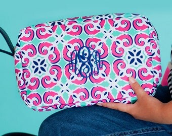 Personalized Mia Tile Zip Pouch * Zippered Accessory Tote Bag with Name or Monogram * Cosmetic Bags  * Monogrammed Gift