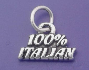 100% ITALIAN Charm .925 Sterling Silver, Italy Pendant -  03525