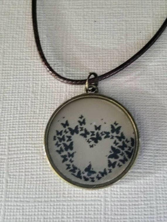 Flock of Butterflies - color changing necklace