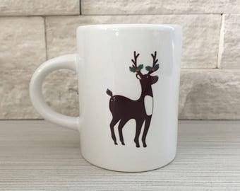 Holiday Deer Espresso Mug