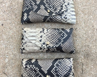 SUNNIES CASE Python Embossed • Printed Leather Sunglasses Pouch or Wallet