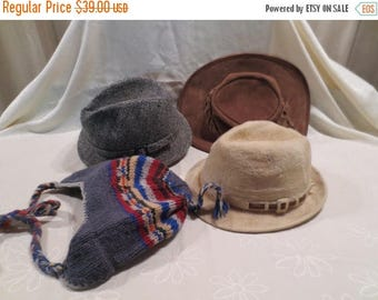 50% Off Estate Sale Wholesale Lot 4 Vintage Hats, Bulk Lot 13, Resale, Biltmore, Harris Tweed, Barmah Australia, Alma nepal