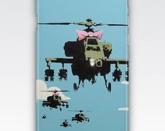 Case for iPhone 8, iPhone 6s,  iPhone 6 Plus,  iPhone 5s,  iPhone SE,  iPhone 5c,  iPhone 7  - Apache Helicopters By Banksy
