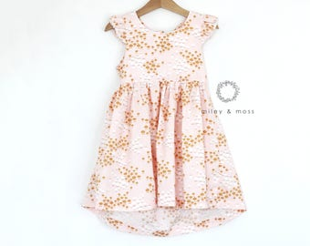 Darcey - open back dress {Young Girl - 1 - 8 yrs}