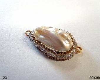 Beautiful Natural Fresh Water Pearl Connector/Pendant/earring/bracelet!!!
