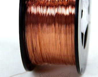 Copper Wire, 28 Gauge, Dead Soft, Solid Copper Wire, Jewelry Quality Copper Wire, Jewelry Wire Wrapping, High, Sold in 50 Ft. Length, 011