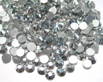 Silver Glass Flat back Rhinestone -A Grade SS16 (3.8-4mm)No-Hotfix
