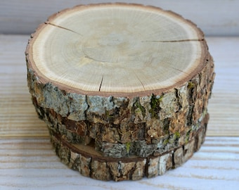 6 pieces 4.5 inches Oak Wood Coasters, Oak Wood Slices, Oak Drink Coaster, Rustic Table Decor, Rounded Oak Coasters
