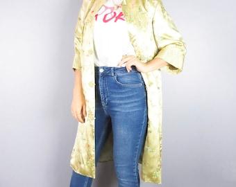 Vintage Silk Kimono Robe Size 36.