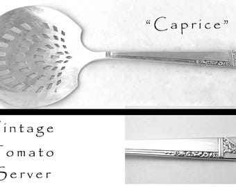 Vintage Silver Plated Tomato Server, Silver Plated Serving Utensil, Pierced Tomato Server Caprice Nobility Silver Plate Silverware