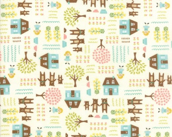 Home Sweet Home Fabric #20572-11 Stacy Ies Hsu, Moda Fabrics, Goldilocks and the 3 bears, Juvenile fabric, Baby Quilt, Baby Shower, IN STOCK
