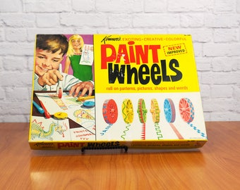 1970 Kenner Paint Wheels Roll On Patterns, Pictures, Shapes and Words