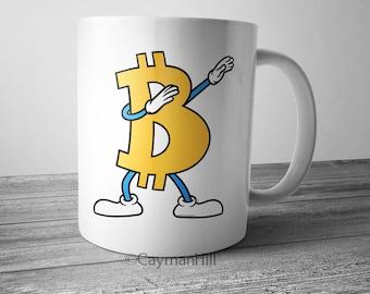 Bitcoin Mug Dabbing Bitcoin Symbol Coffee Mug Crypto Currency Dab Cryptocurrency Funny Coffee Mug