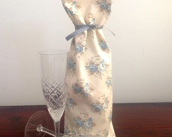 Wine Gift Bag, Wine Tote, Fabric Gift Bag, Reuable Wrapping