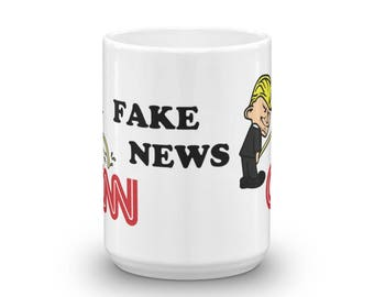 Donald Trump Pee on CNN and Fake News - Support Our President and Your Country Mug made in the USA