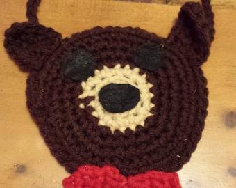 Handmade Teddy Bear Christmas Ornament