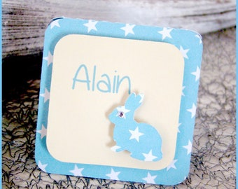 Place card rabbits for baptism, wedding, birthday...