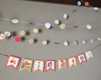 Winnie the Pooh Banner and Garland, Birthday, Baby, Children, Party