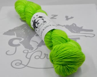 Geiger Counter: 231 yards 75/25 Superwash Merino/Nylon fingering weight yarn in Endurance 50-Gram.