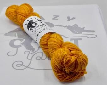 Amber Waves:  231 yards 75/25 Superwash Merino/Nylon fingering weight yarn in Endurance 50-Gram.