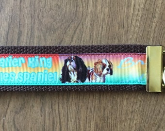 Cavalier King Charles Spaniel Key Chain Wristlet Zipper Pull