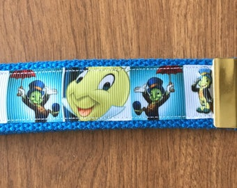 Jiminy Cricket Key Chain Wristlet Zipper Pull