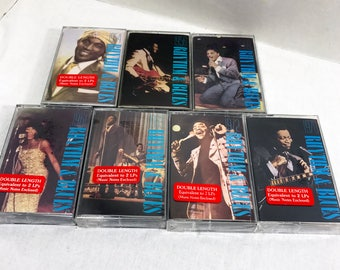 Rhythm & Blues vintage cassette tapes from Time Life Music LOT of 7 - New and SEALED