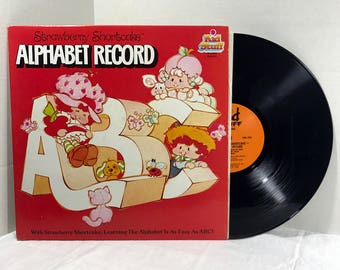 Strawberry Shortcake Alphabet Record vinyl record 1982 VG