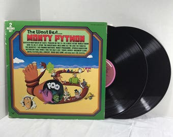 The Worst Best... Monty Python 2xLP vinyl record 1976 VG+ Soundtrack Comedy