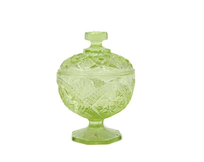*free shipping Vintage yellow depression glass bowl